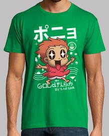camisa de los pescados del oro del kawaii para hombre