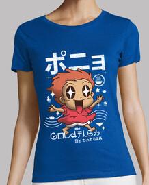 camisa de los pescados del oro del kawaii para mujer