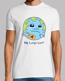 camisa de los pulmones de la tierra para hombre
