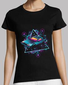 camisa de máquina de tiempo de onda retro para mujer