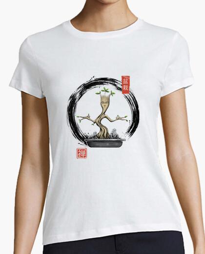 Camiseta camisa de meditaciones bonsai para mujer