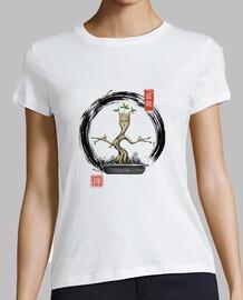camisa de meditaciones bonsai para mujer