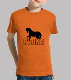 camisa de montar a caballo - caballo