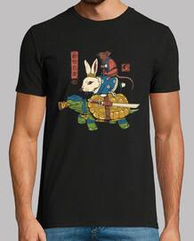 camisa de ninjas kame, usagi y ratto para hombre.
