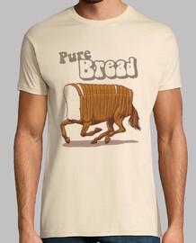 camisa de pan puro para hombre