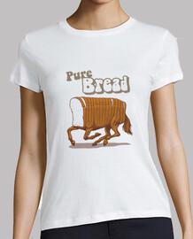 camisa de pan puro para mujer