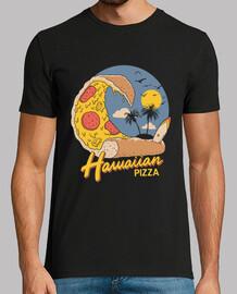 camisa de pizza hawaiana para hombre