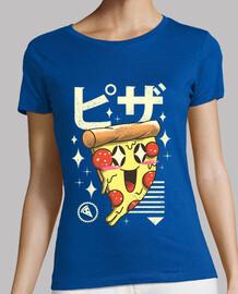 camisa de pizza kawaii para mujer