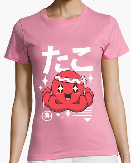 Camiseta camisa de pulpo kawaii para mujer