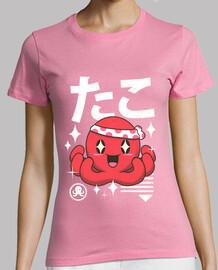 camisa de pulpo kawaii para mujer