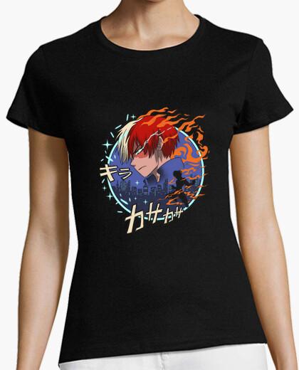Camiseta camisa de quirk de fuego y hielo