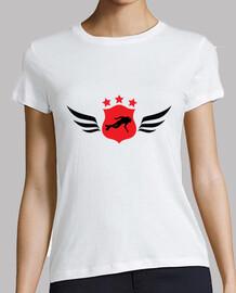camisa de salto de la mujer, blanco, de alta calidad