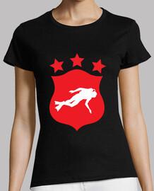 camisa de salto de la mujer, negro, mejor calidad