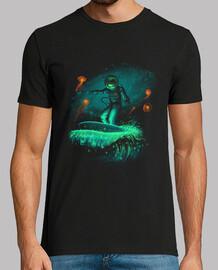 camisa de surfista espacial para hombre