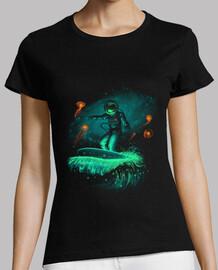 camisa de surfista espacial para mujer