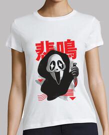 camisa del grito del kawaii para mujer