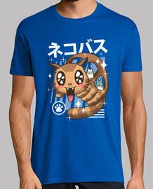 camisa del nekobasu del kawaii para hombre