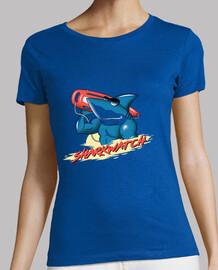 camisa del reloj del tiburón para mujer