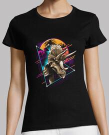 camisa del triceratops del rad para mujer