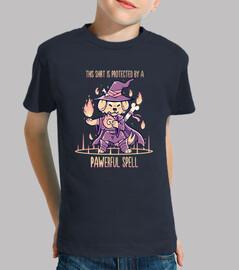 camisa está protegida por un hechizo pawerful - camisa de los niños