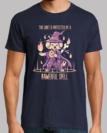 camisa está protegida por un hechizo pawerful - camisa para hombre