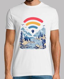 camisa explorador de internet para hombre