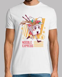 camisa expreso de fideos para hombre