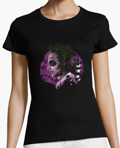 Camiseta camisa fantasma desviado para mujer