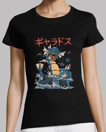 camisa kaiju de agua volante para mujer