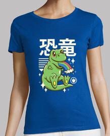camisa kawaii t-rex mujer