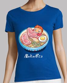 camisa para mujer de fideos de natación