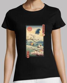 camisa princesa lobo ukiyo e mujer