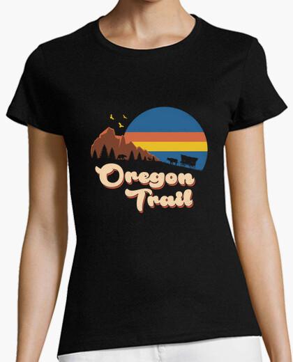Camiseta camisa retro oregon trail mujer