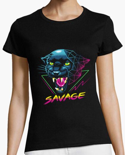 Camiseta camisa salvaje mujer