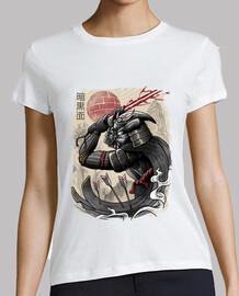 camisa samurai oscura para mujer