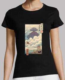 camisa sky castle ukiyo e mujer