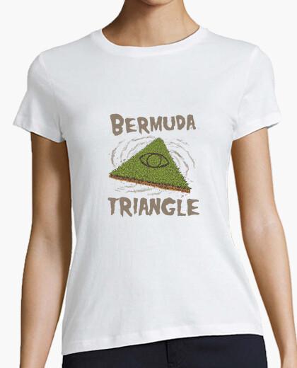 Camiseta camisa triangular bermudas mujer