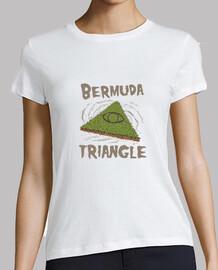 camisa triangular bermudas mujer