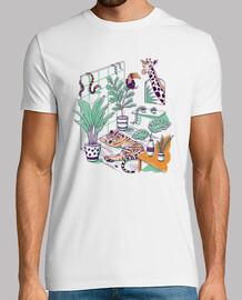 camisa urbana de la selva para hombre