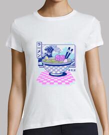 camisa vaporwave ramen mujer