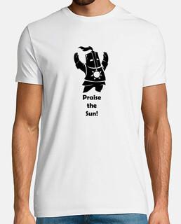 Camiseta - Dark Souls - Caballero Solaire - Praise the Sun - negro