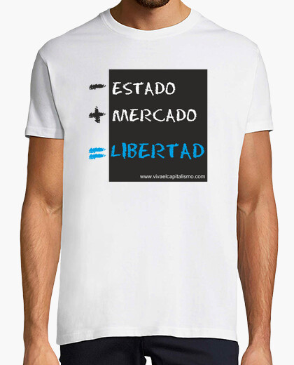 Camiseta - ESTADO   MERCADO = LIBERTAD CHICO