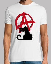 camiseta - gato anarquista