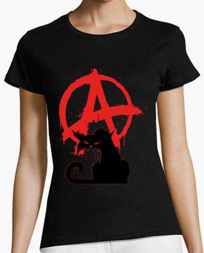 Camiseta - gato negro anarquista