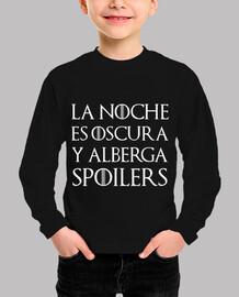 Camiseta - Juego de Tronos 'La noche es oscura y alberga spoilers'