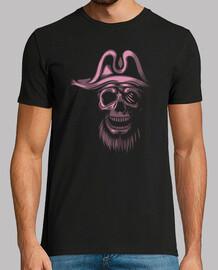 camiseta - piratas rosados del cráneo