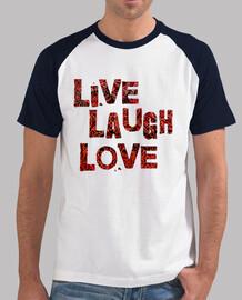 camiseta - risa viva del amor - rojo