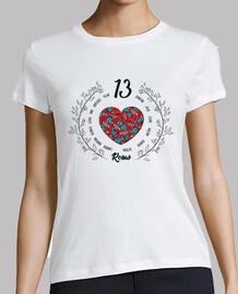 Camiseta 13 rosas manga corta