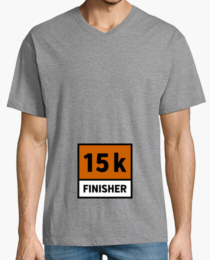 Camiseta 15k finisher dorsal