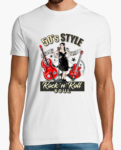 Camiseta 1950s Rockabilly Pinup Retro
